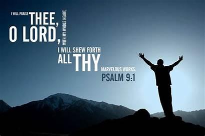 Christian Scripture Wallpapers Psalm Desktop Religious Praise