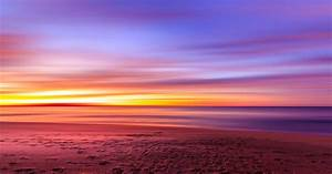 Dawn, Over, The, Coastline, And, Colorful, Skies, In, New, South, Wales, Australia, Image