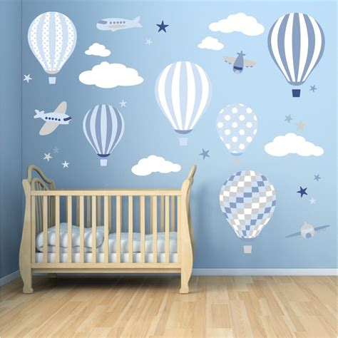 Hot Air Balloon & Jets Wall Stickers