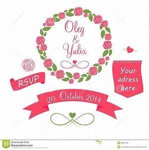 Set Of Wedding Graphic Elements With Arrows, Royalty Free ...