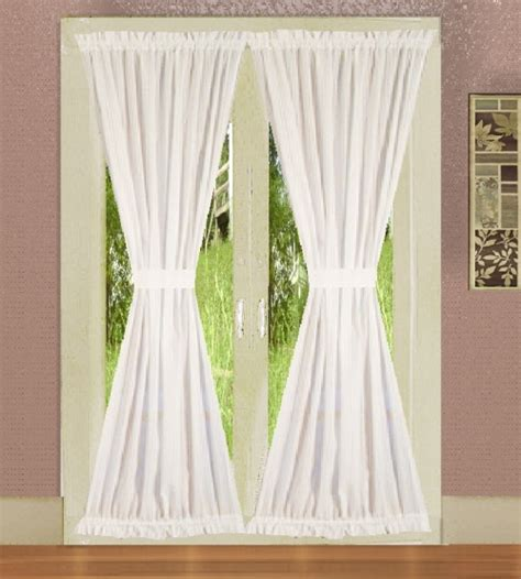 solid bright white colored door curtain available