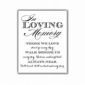 remembrance table at wedding in loving memory wedding With wedding ceremony remembrance wording