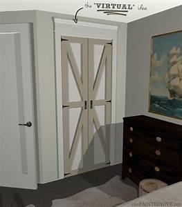converting bi folds to barn doors the plan the painted With bi folding barn doors
