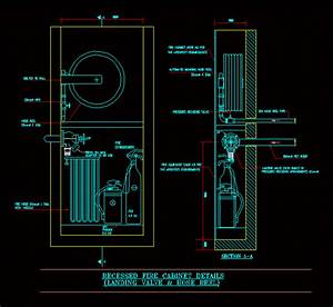 Recessed Fire Cabinet Dwg Detail For Autocad  U2013 Designs Cad