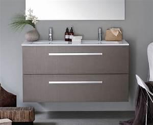 meuble salle de bain woodstock With salle de bain brossette