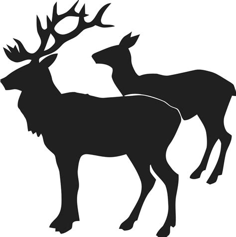 two deer silhouette vinyl wall sticker decal 22 quot x22 quot animal 18 ebay