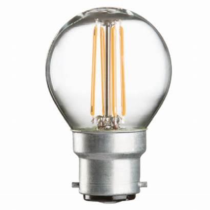 Led Bulb Round Filament Bc Clear Bulbs