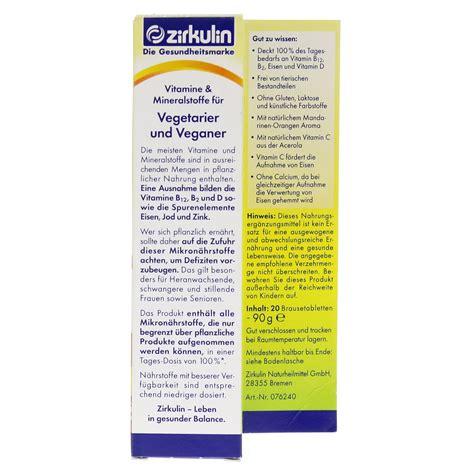 vitamine für veganer zirkulin vitamine u mineralst f vegetarier veganer 20