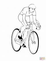 Coloring Bike Mountain Bikes Cyclists Bicycle Bicycles Printable Racing Popular sketch template