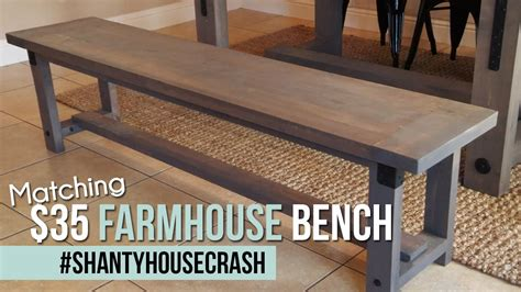 industrial farmhouse bench shantyhousecrash youtube