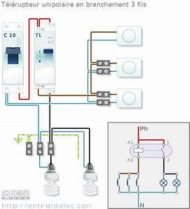 Detecteur De Fil Electrique : sch ma t l rupteur en branchement 3 fils elec 1 pinterest ~ Dailycaller-alerts.com Idées de Décoration