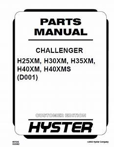Hyster Challenger H25  30  35  40xm  H40xms Repair Manuals Pdf