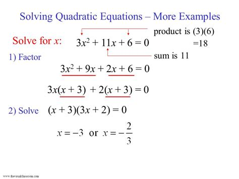 Solving Quadratic Equations  More Examples  Ppt Video Online Download