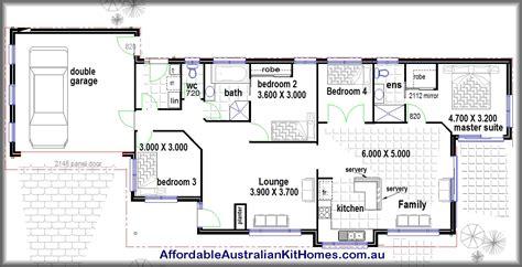 4 Bedroom House Plans Kit Homes  Australian Kit Homes