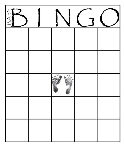 Favorite Character Bingo Template 29 Sets Of Free Baby Shower Bingo Cards