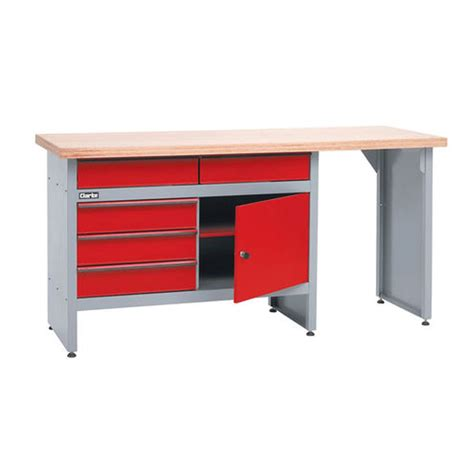 ac duct supplies clarke cwb1700p workbench with 5 drawers and lockable cupboard
