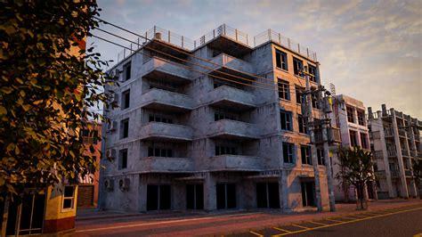 BUILDING URBAN AREA HONGKONG JAPAN CHINA ASIAN 08 3D asset