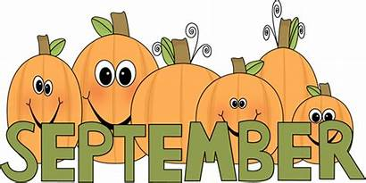 September Clipart Clip Month Word Months Graphics