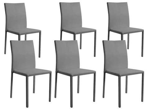 lot de 6 chaises grises lot de 6 chaises atia coloris gris achetezmoi com