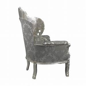 Canapé Baroque Pas Cher : fauteuil baroque argent royal rococo meuble et canap ~ Teatrodelosmanantiales.com Idées de Décoration