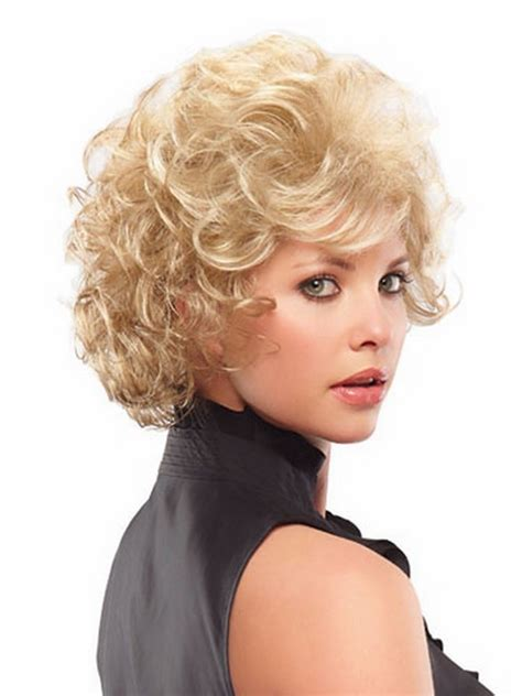 High Quality Short Blonde Wig With Bangs Afro Kinky Curly