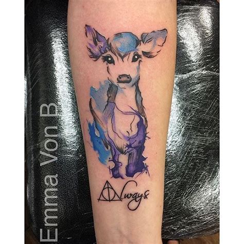 tatouage harry potter patronus
