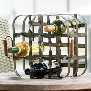 Park, Designs, 9, Bottle, Metal, Crate, Wine, Rack