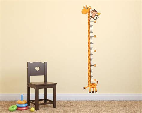 giraffe growth chart wall decal kids giraffe nursery