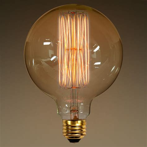 g40 vintage antique light bulb globe style 40w