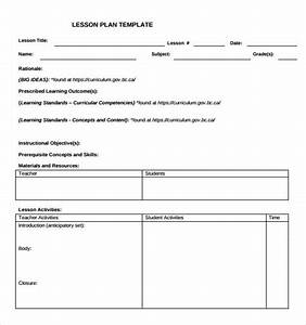 sample teacher lesson plan template 9 free documents in With lesson plan template for kindergarten teacher
