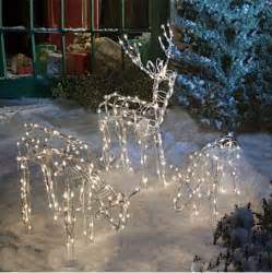 animated lighted reindeer family set 3 yard decoration outdoor new ebay