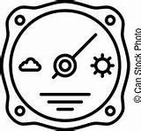 Barometer Clipart Barometro Icon Outline Atmosphere Illustrations Anatolir Illustrazioni Icona Contorno Atmosfera Stile sketch template