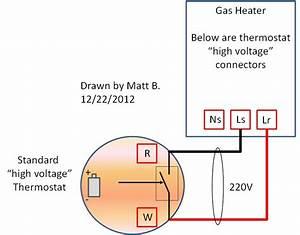 High Voltage 220v -thermostat Wiring