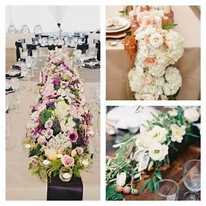 decoration fete chemin de table a realiser soi meme With chambre bébé design avec chemin de table fleuri mariage