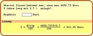 Zinsen P A Berechnen : beispielaufgaben ~ Themetempest.com Abrechnung