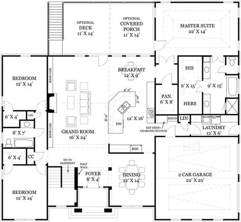 ideas  ranch floor plans  pinterest