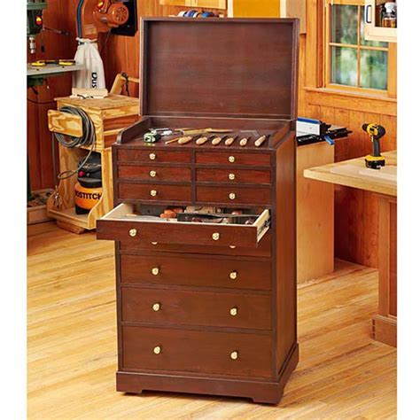Wooden Tool Storage Cabinet Plans by Heirloom Rolling Tool Cabinet Woodworking Plan From Wood