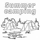 Camping Coloring Pages Printable Summer Camp Sheets Tent Getcoloringpages Poster sketch template
