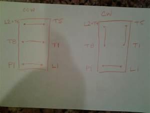 220v Single Phase Wiring Forward  Reverse Switch