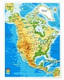 North America - Topographic map Posters and Prints ...