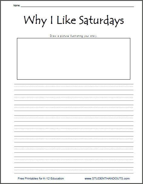 why i like saturdays writing prompt printable daily 5 work writing second grade writing