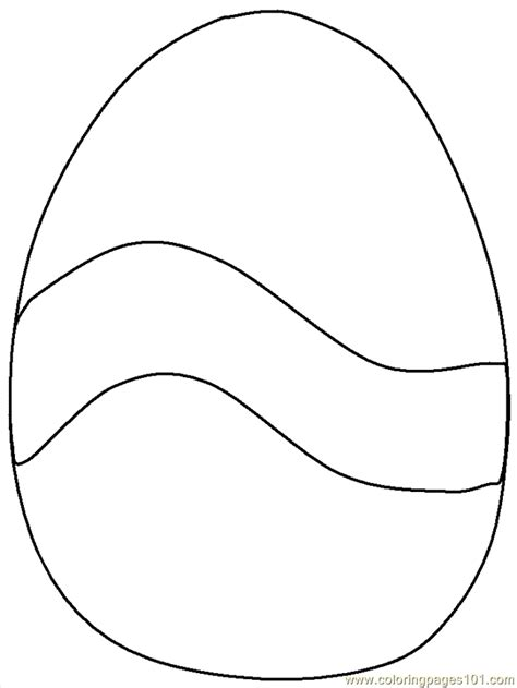 easter egg outline coloring home