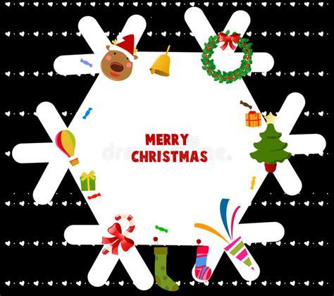 merry christmas frame stock vector illustration of greeting 17118047