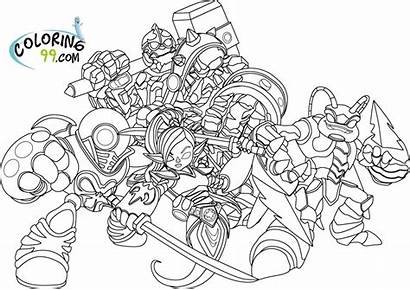 Skylander Coloring Pages Printable Action Figures Everfreecoloring