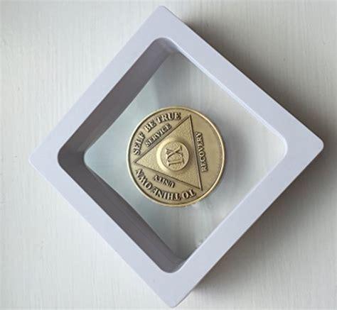 White Diamond Square AA Medallion Challenge Coin Chip