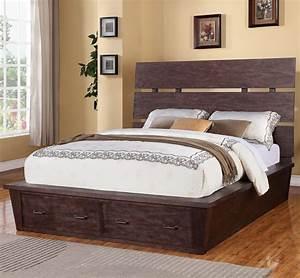 Promenade, King, Platform, Storage, Bed, With, 2, Drawers, By, Riverside, Furniture
