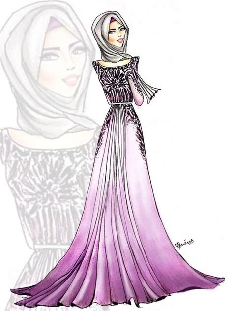 17 Best Hijab Drawings Images On Pinterest Hijab Drawing Hijab Fashion And Hijab Styles