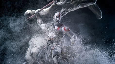 wallpaper kratos god  war  hd games