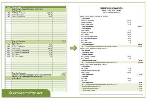 Flow Statement Template Flow Statement Excel Templates