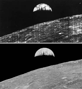 The First Earthrise Image Makes a Trip Back To The Moon ...